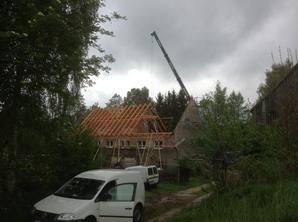 Dachstuhlaufbau Oberbobritzsch