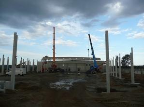 Tandemhub für Betonbindermontage GWG Freiberg-Ost